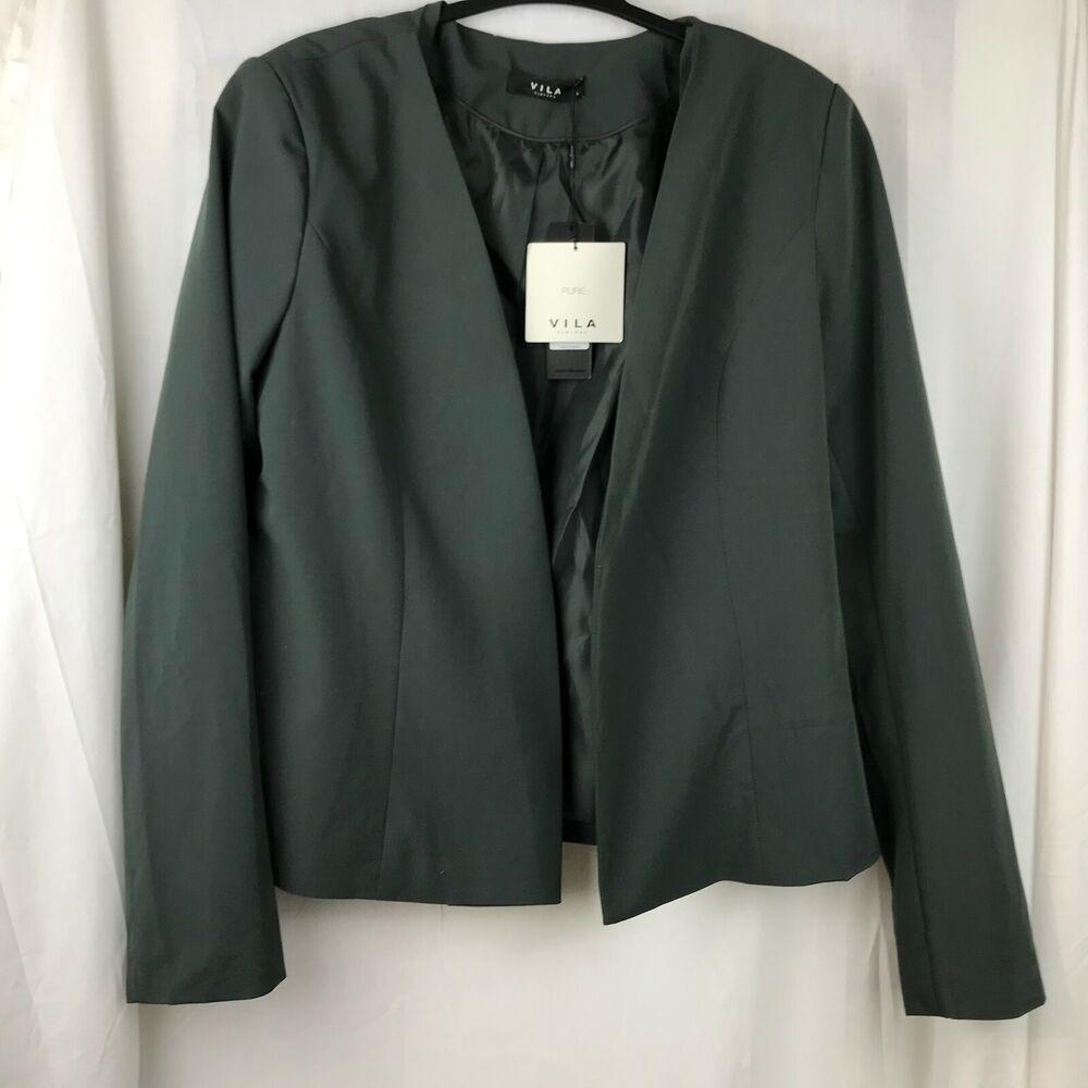 Femme Vila Gris Anthracite Dinner Jacket Taille L Neuf Avec étiquettes