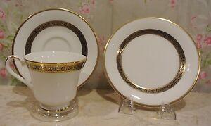 Royal-Doulton-Harlow-Bone-China-3-Piece-Set-Tea-Set-Dish-Saucer-and-Tea-Cup