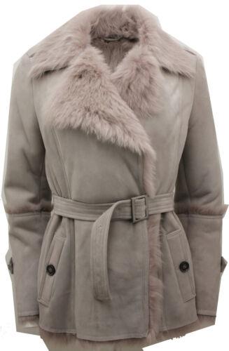 Sheepskin Grey Coat Women's Belt Trench With Toscana Tie EfFFwqdx