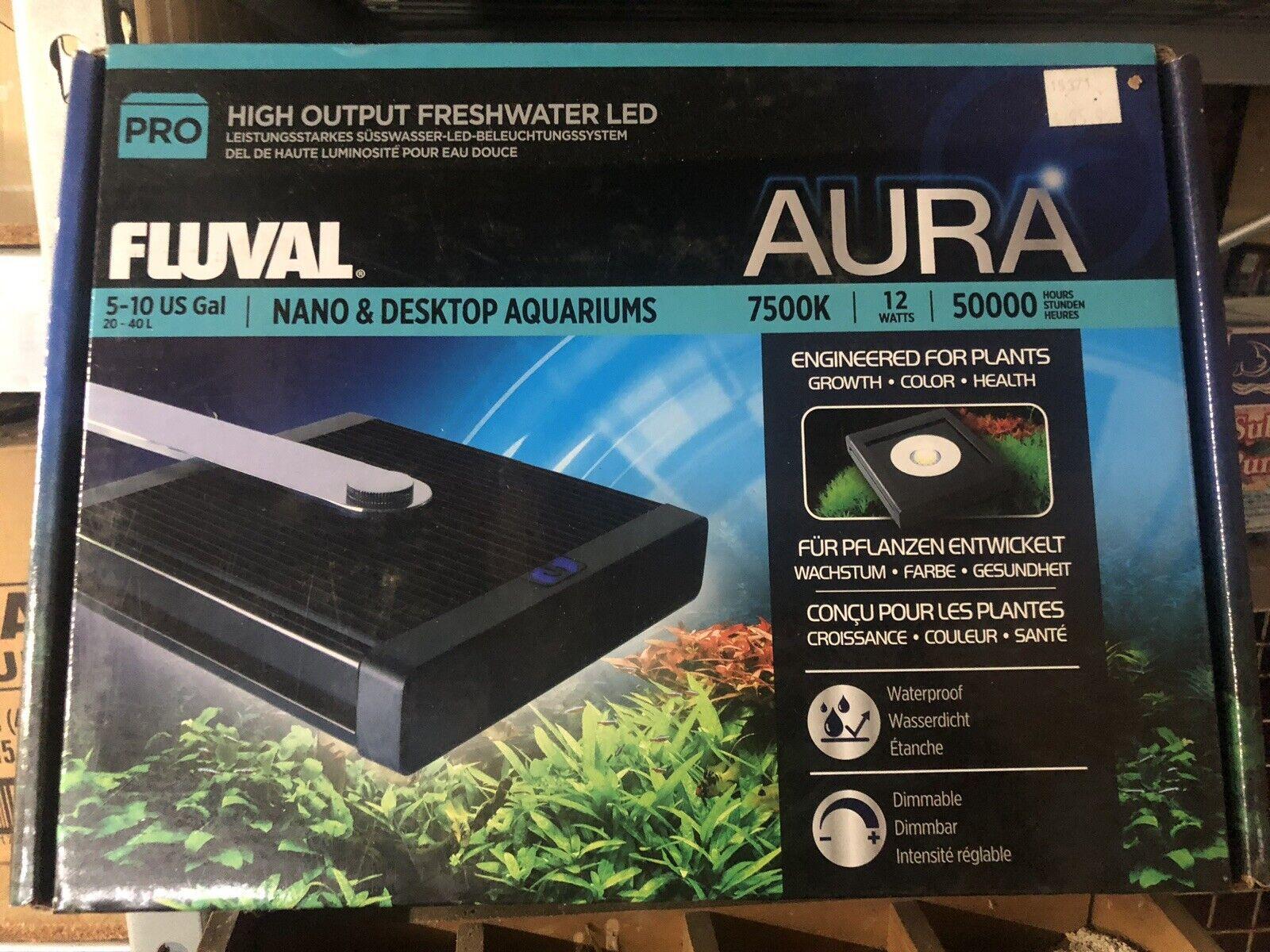 Fluval Pro Nano & Desktop Aquarium Aura High Performance LED Lamp 12w A3972