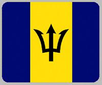 "Blanket Fleece Throw National Flag Barbados 50""x60"" NEW with protective sleeve"