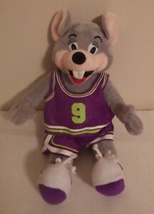 chuck e cheese mouse basketball jersey 12 plush stuffed animal toy ebay. Black Bedroom Furniture Sets. Home Design Ideas