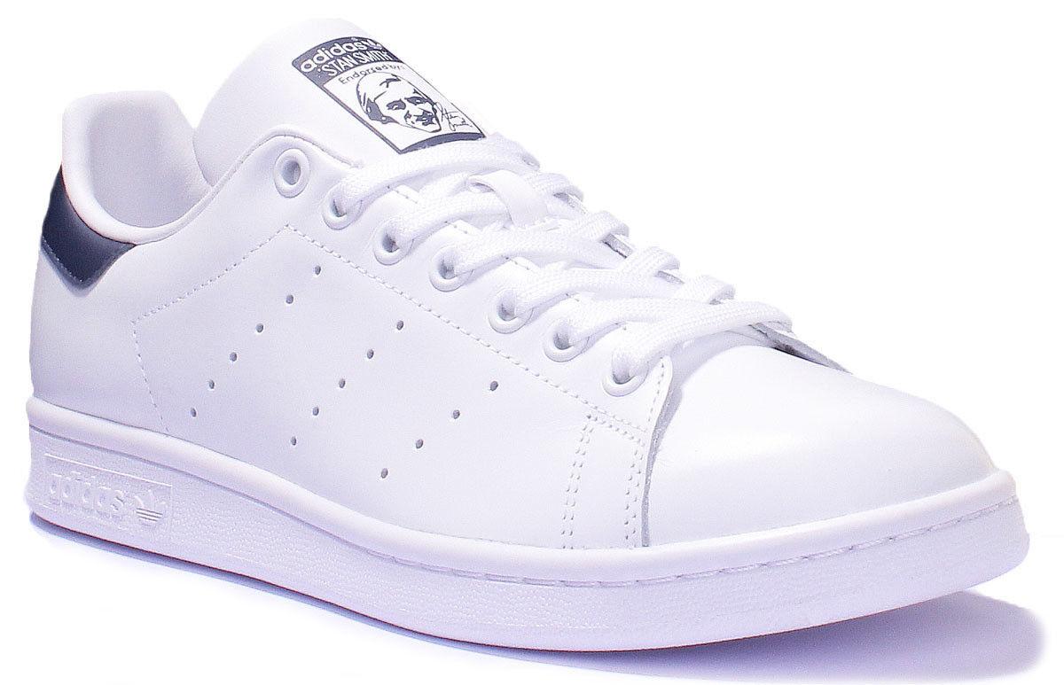 Adidas Stan Smith Mens White Navy Leather Matt Trainer B Grade UK Size 7 - 12