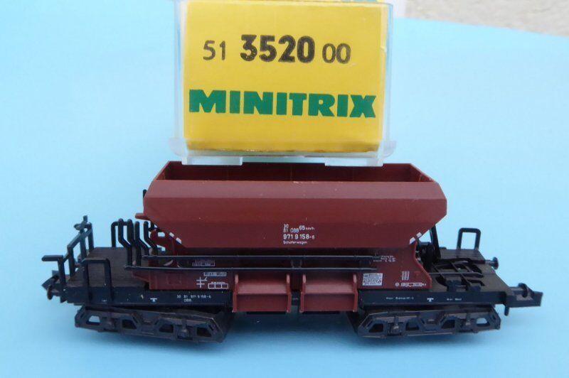 Minitrix 13520 Self-Unloading Wagon Ballast Wagon ÖBB ep. 4 5 NEUWERTIG, N Gauge