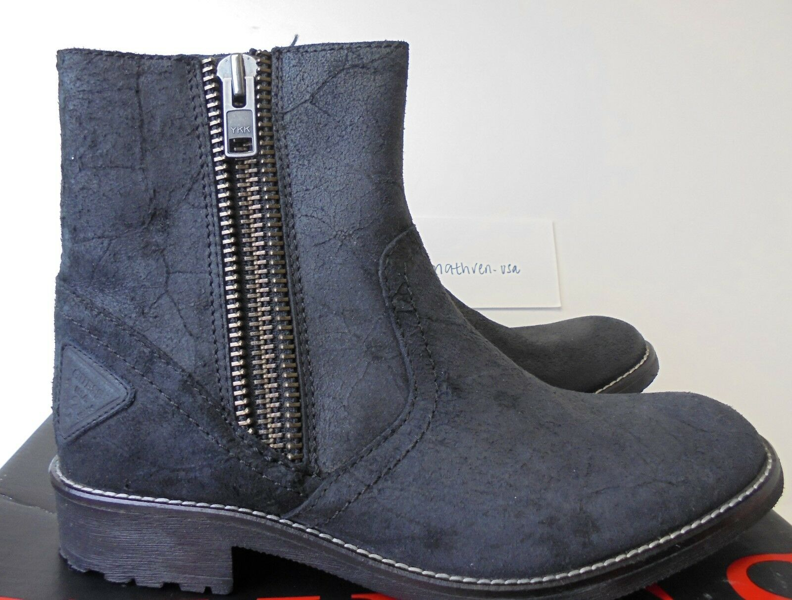 Guess herren side zip ankle leather Stiefel sz 9 style style style GMCAYDEN NEW 848830