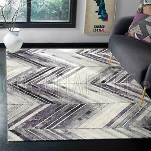 Valencia-Purple-Textured-Chevron-Modern-Floor-Rug-4-Sizes-FREE-DELIVERY
