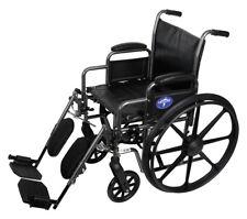 "Medline K2 Basic Wheelchair with 18""Wx16""D Seat, Elevating Legrests- MDS806300EV"