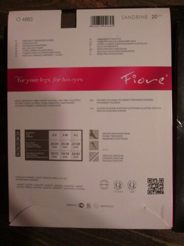 FIORE SANDRINE STAY UP THIGH HIGH STOCKINGS FINE EUROPEAN  3 SIZES CAPPUCCINO