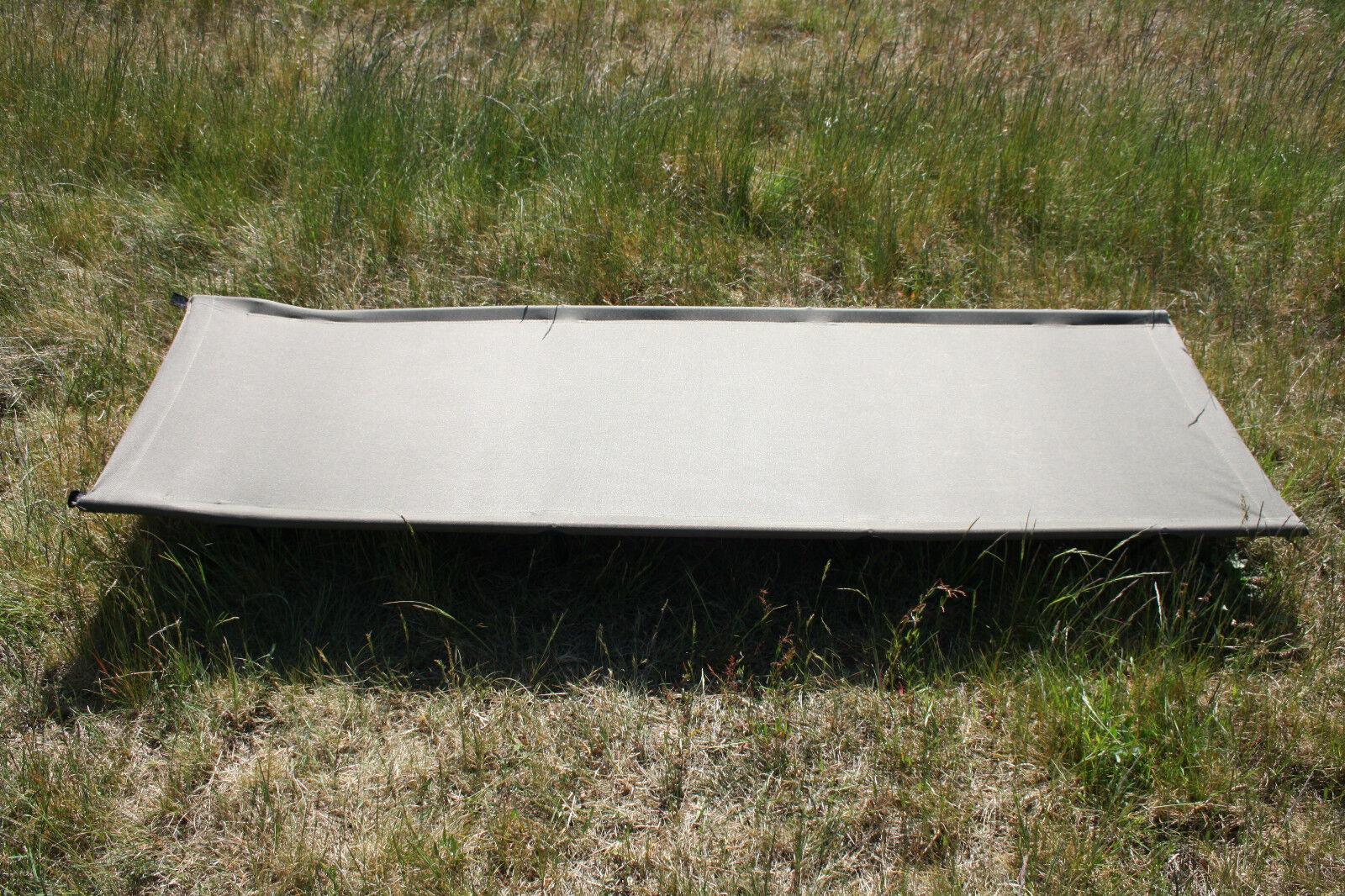 Zeltliege lit de camp lit M metallgeschtell pêcher camping tente couchage Olive
