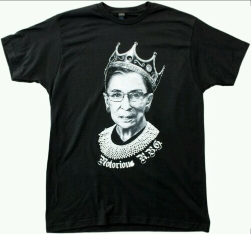 Adult XL Funny Progressive Unisex T-shirt NOTORIOUS R.B.G