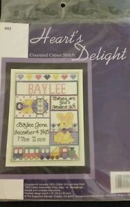 Hearts-Delight-Counted-Cross-Stitch-Kit-Vintage-Baby-Train-Bunny