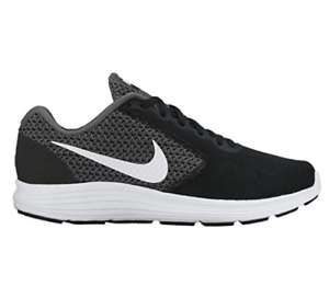 NIKE Women Revolution 3 Wide 2E Running shoes 819302 001 NEW