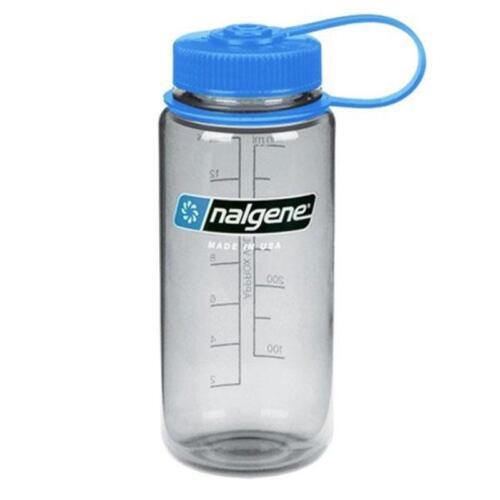 Nalgene 500ml Wide Mouth Bottle Grey Blue or Red