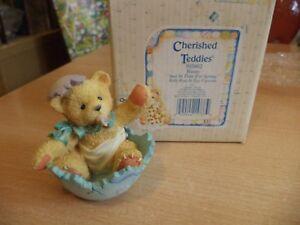 VINTAGE-BOXED-retired-cherished-teddies-TEDDY-BEAR-ROSE-BUNNY-EASTER-1994-103802