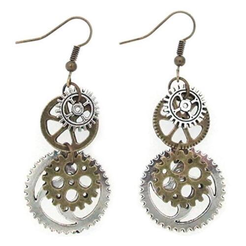Vintage Women Earings Steampunk Gearwheels Jewellery Retro Women Gift LC