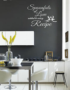 Image Is Loading Spoonfuls Of Love Recipe Wall Quote Stickers Wall