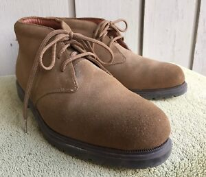Mens Dockers Desert Boots Chukkas Suede Brown Barely Worn Size 8.5 Medium Ankle