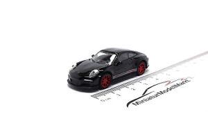 452637400-Schuco-Porsche-911-R-991-negro-rojo-26374-1-87