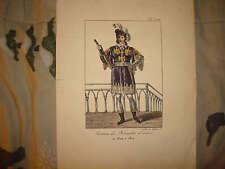 1820 ANTIQUE HERAULT FRANCE MILITARY UNIFORM PRINT NR