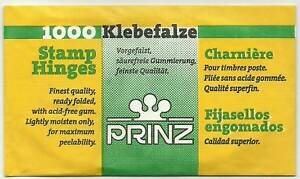 PRINZ-1000-Ready-FOLDED-STAMP-HINGES-Finest-Quality-PEELABLE-Acid-Free-GUM