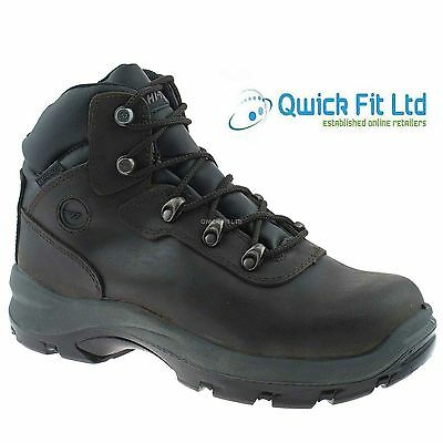 MENS HI TEC LEATHER COMPOSITE TOE CAP WATERPROOF HIKING WORK BOOTS SAFETY SHOES