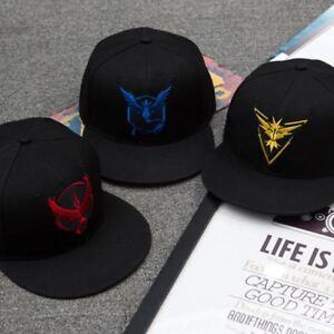 a0a8a8c8f340f4 Das Bild wird geladen Pokemon-Go-Team-Valor-Mystic-Cap-Hute-Baseball-