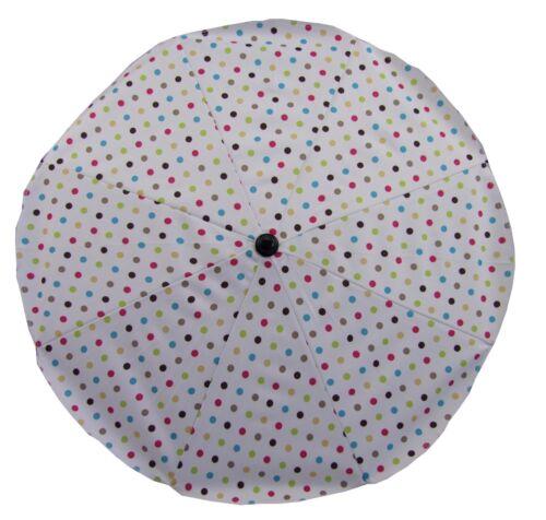 SCHUTZ KL PUNKTE UNIVERSAL Sonnenschirm Schirm für alle Kinderwagen Ø68cm UV50
