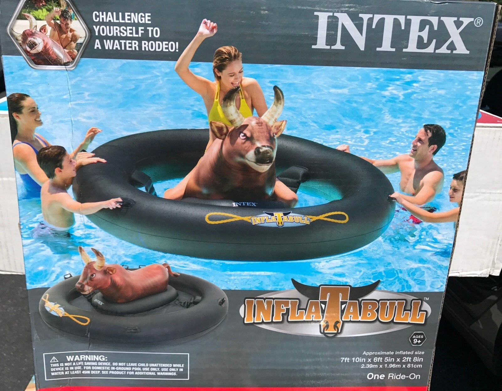 Inflatable Riding Bull by Intex, Intex Inflatabull, Brand New In Box