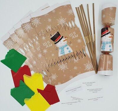 18 X make your own Christmas cracker kit hats crackers snaps jokes ROSE GOLD