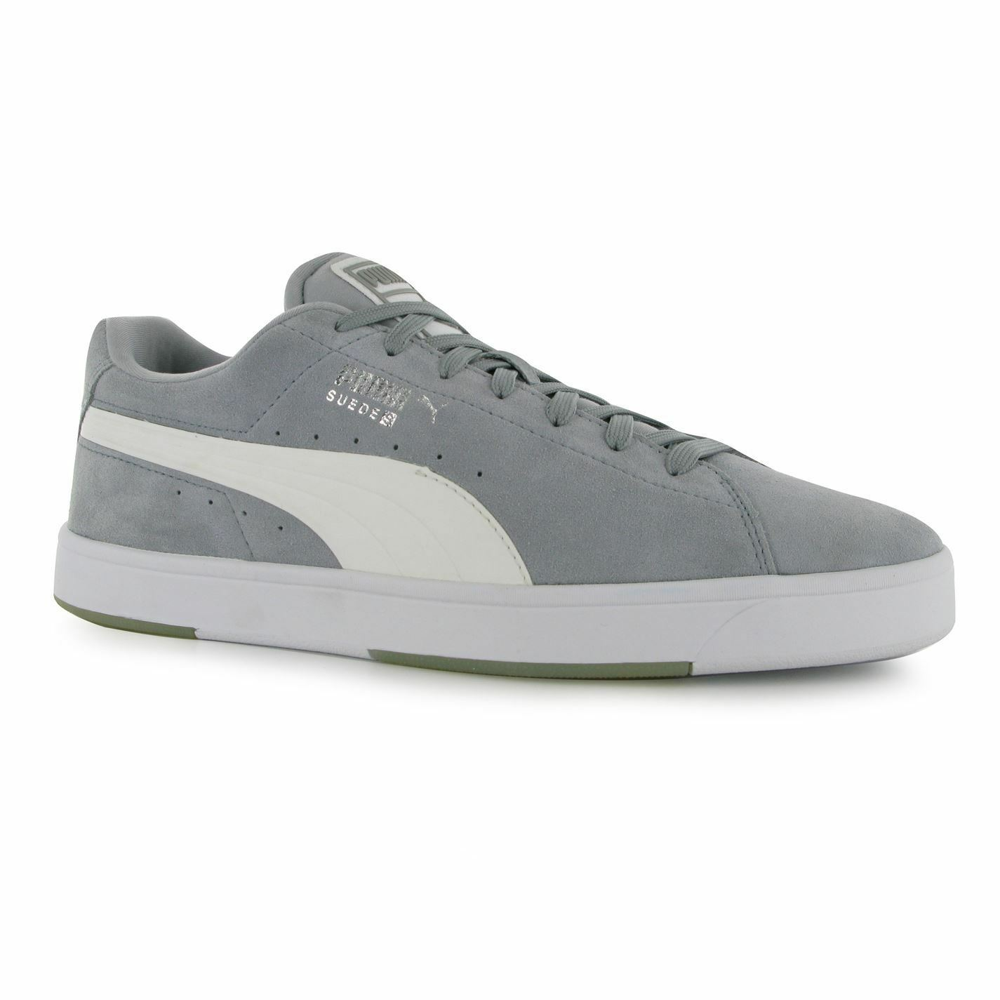 Puma Suede S Trainers Mens Grey/White Casual Sneakers Shoes Footwear