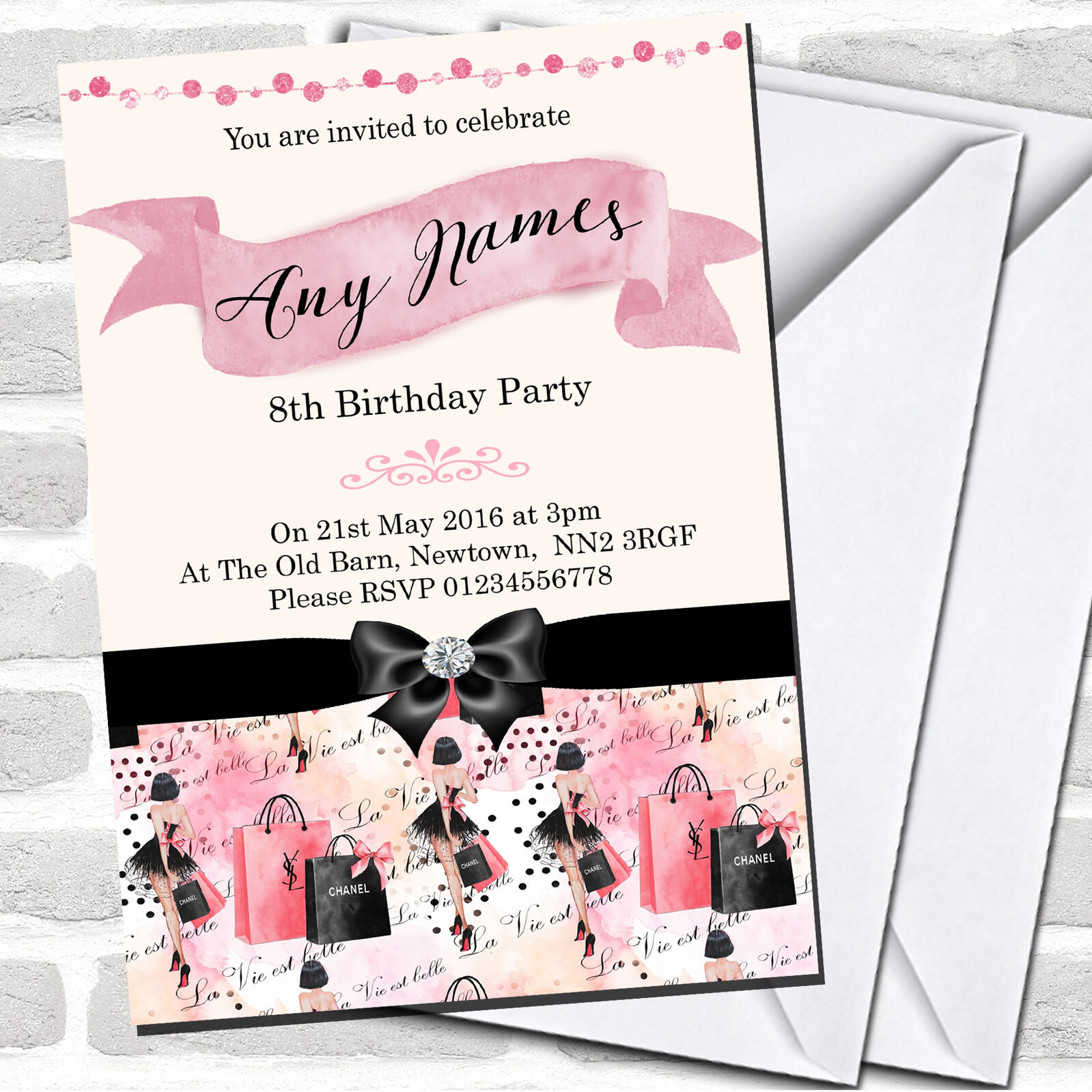 Rosa Invitations Girls Fashion Show Children S Birthday Party