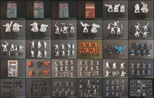 Multi-listing of 28mm Plastic Warhammer Fantasy & 40k Sci Fi Figures Job Lots