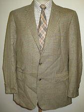 "Genuine Burberry Para Hombre De Cuadros Chaqueta Blazer de lana marrón claro 42"" L Euro 52"