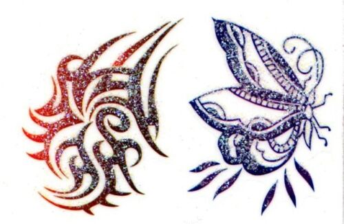 Gioielli Corpo Tatuaggi tatoo sticker GLITTER autoadesivo BodyART Body JEWELS