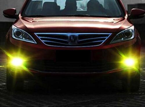 Alla Lighting 2x 3000K 5202 5201 Golden Yellow 3030 LED Fog Driving Light Bulb