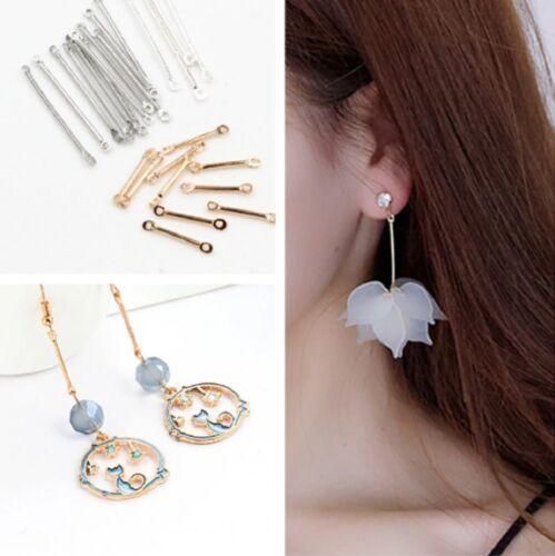 Metal Earring Link Connectors Bar Double Ended Jewellery Findings Fittings DIY