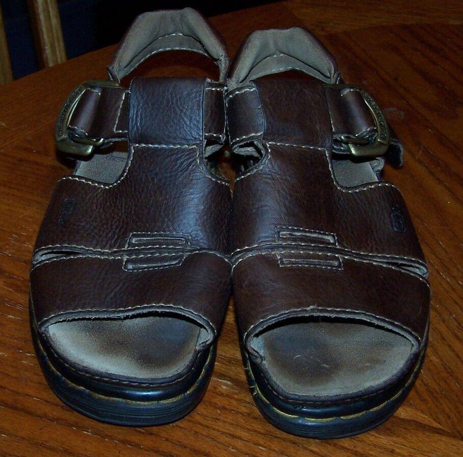 DR. MARTENS mens marrón Leather Sandals 9667 Talla US 6,UK 5,EU 38