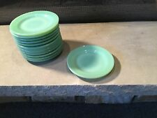 "Set Of 4 Jadite small 5 1/2"" Restaurant Ware bread plates Fire-King Jadeite"