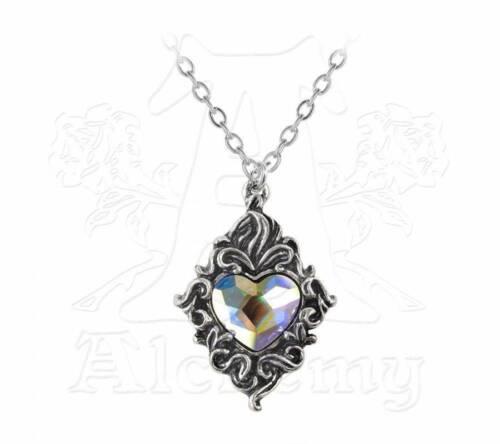 Colgante de Corazón de Cristal-Alchemy Gothic joyas P711
