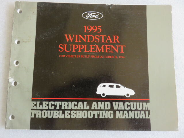1995 Ford Windstar Electrical Wiring Diagrams Supplement
