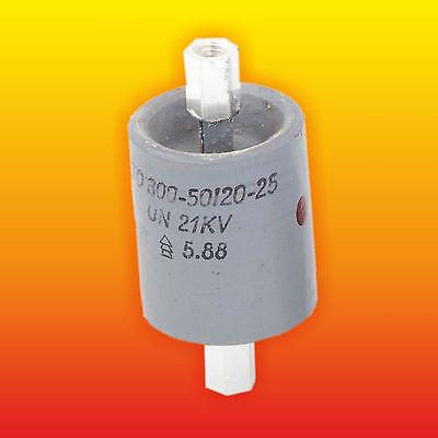 2pcs 4700pF 5kV Doorknob Ceramic High Voltage Capacitors KVI-3 USSR