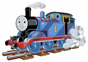 TRAIN BLUE THOMASWITH SMOKE VINYL WALL STICKER VARIOUS SIZES