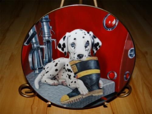 """Caught In The Act"" Dalmatian Puppy Dog Linda Picken Princeton Gallery Plate"