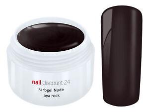 UV Farb Gel NUDE LAYA ROCK Color French Modellage NailArt Design Nagel Braun Tip