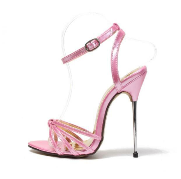 donna Runway Stilettos 13cm 13cm 13cm Sexy Open Toe Ankle Strappy Sandal Pointy Toe scarpe 640996
