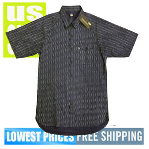Levi-039-s-Men-039-s-NWT-SKATEBOARDING-Short-Sleeve-Button-Front-Shirt-NAVY-BLUE-Large