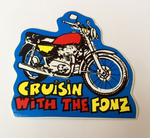 Vintage 1970 s Happy Days The Fonz Cruisin Moto Autocollant