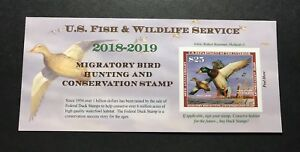 WTDstamps-RW85A-2018-2019-US-Federal-Duck-Stamp-Post-Office-FRESH