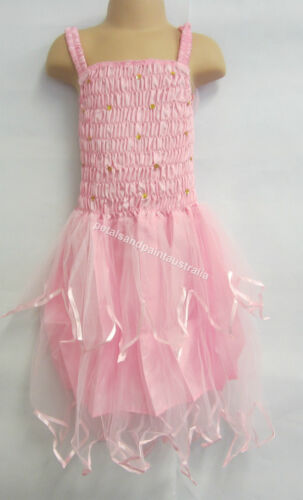 Fairy Dress With Wings Ballet Tutu Dance Costume Pink 5-7 Years Polyester Tulle
