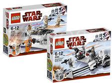 LEGO Star Wars 8083 Rebel Trooper + 8084 Snowtrooper Battle Packs (NEW/Retired)